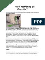 Qué es el Marketing de Guerrilla
