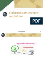 Financiamiento externo y crecimiento