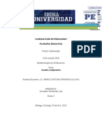 CUADRO COMPARATIVO DE CORRIENTES EPISTEMOLOGICAS