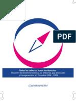 Informe Derechos Humanos personas  LGBT - Colombia Diversa   2008-2009