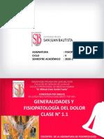 T-1.1 Generalidades, Dolor 2020-2