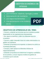 TEMA 6 LA GESTIÓN ECONÓMICA DE STOCKS