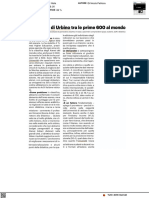 L'Università di Urbino tra le prime 600 al mondo - Il Resto del Carlino del 3 settembre 2021