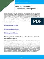 Studio d a1 Teilband 2 Sprachtraining Deutsch Als Fremdsprache