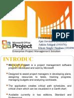 MS PROJECT Presentation