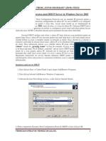 Instalarea si configurarea unui DHCP Server in Windows Server 2003
