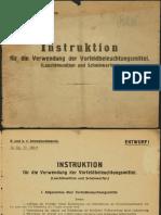 Instruktion Für Die Verwendung Der Vorfeldbeleuchtungsmittel (Leuchtmunition Und Scheinwerfer). 1917
