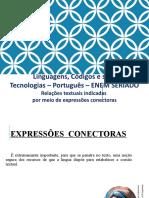 Relações textuais indicadas por meio de expressões conectoras