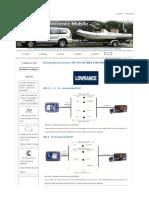 Branchement Lowrance VHF GPS AIS NMEA 0183 NMEA 2000 - GPM - Gu