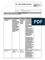 Análise Prévia do Risco - Operação e condução de caminhão bascular rev 01 24-04-2017