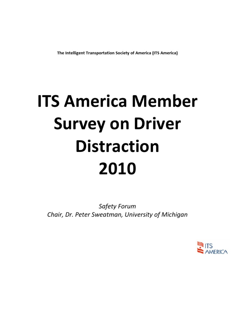 ITS America Driver Distraction Summary of Results Draft