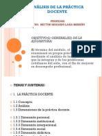 ANÁLISIS DE LA PRÁCTICA DOCENTE - PROGRAMA