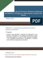 2TEMA Fundamentos de Los Procesos Químicos Balances de Materia y Energía en Operaciones Unitarias de Planta