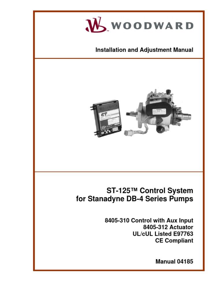 Woodward Fuel Solenoid 12 Volt Wiring Diagram Diagrams Actuator Starter St 125 Control