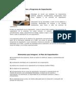 Plan y Programa de Capacitación