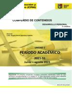 COMPENDIO UNIDAD III DESARROLLO PERSONAL 2021 -S1