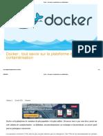 Docker _ tout savoir sur la plateforme de containérisation