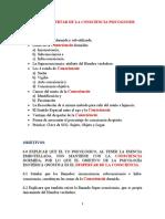 TEMA 6 EL DESPERTAR DE LA  CONSCIENCIA PSICOGNOSIS