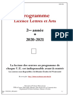 Brochure- Lettres et arts Programme L2-2020-2021_reluMLB relu JR (4)