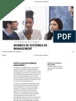 ISO - Normes de systèmes de management