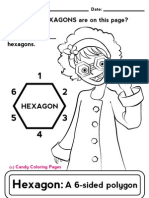 Hexagon Coloring Pages Math Worksheets