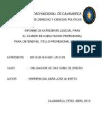 Expediente Civil - Obligacion de Dar Suma de Dinero - Proceso Ejecutivo