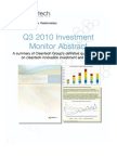 3Q 2010 Investment Monitor Abstract