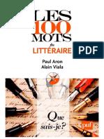 Les 100 mots du littéraire-2011
