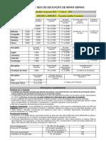 Calendário de provas 2ª Etapa - 1ª série A