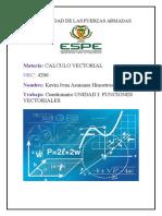 Cuestionario de Vectorial