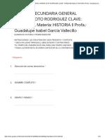 Eexamen de Historia II Primer Bimestres PDF
