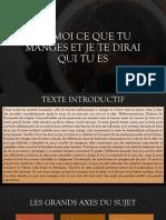 Slides de conversation - DIS-MOI CE QUE TU MANGES