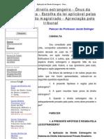 Aplicação do Direito Estrangeiro - Parecer do Prof Dolinger