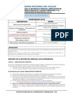Proceso Simplificado de Matricula Especial 2021b