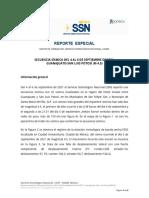 Reporte  secuencia de sismos Guanajuato-San Luis Potosí