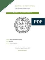 Reporte 3 - Techos Industriales_Universidad de San Carlos de Guatemala