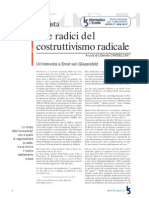 Alle Radici Del Costruttivismo Radicale