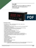 1537783146 Bedienungsanleitung Digitalanzeige M2 Serie Frequenz