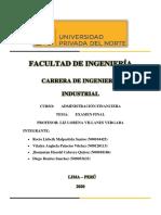 Examen Final_Administración Financiera_Grupo N° 16