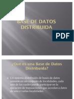 Presentacion Base de Datos Distribuida