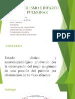 EMBOLISMO E INFARTO PULMONAR (1)