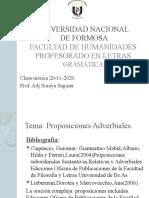 Proposiciones Adverbiales