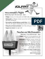McDonald's Night Flyer