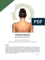 Technik Der Massage