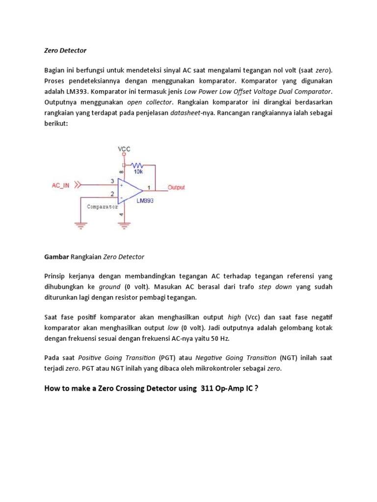 Zero Detector Operational Amplifier Radio Solid State Relay Adalah