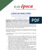22 agosto 2003 Curso de directores y Reforma de estatutos.
