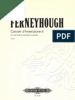 Ferneyhough - Carceri d'Invenzione II
