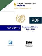 HS Program of Studies 2011 2012