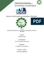 Sinopsis Cronológica de La Biotecnología Ambiental Desde Sus Orígenes- ANYULIA TORRES SOSA