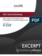 2011 Social Marketing Benchmark Report - EXCERPT